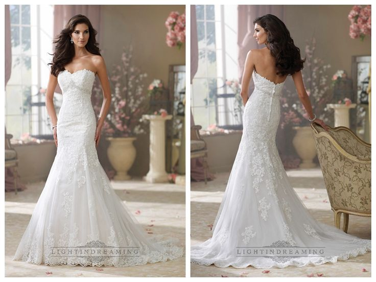 Luxury Strapless Curved Neckline A-line Lace Appliques Wedding Dresses http://www.ckdress.com/luxury-strapless-curved-neckline-aline-lace-  appliques-wedding-dresses-p-445.html  #wedding #dresses #dress #lightindream #lightindreaming #wed #clothing   #gown #weddingdresses #dressesonline #dressonline #bride