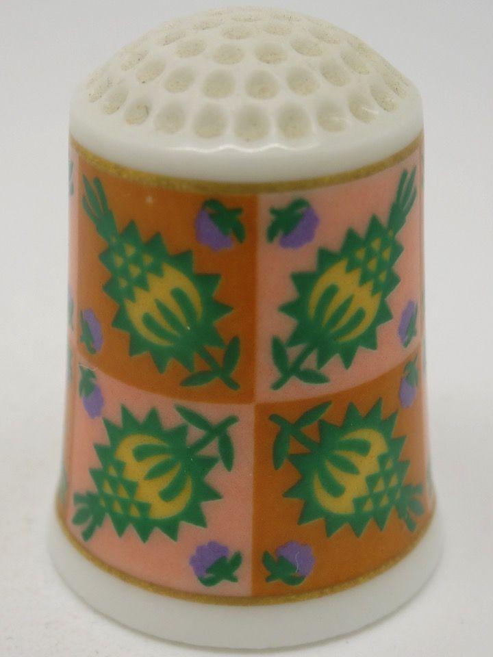 Pinneapple circa 1861. The American Heirloom Quilt Collection. Franklin Porcelain. Thimble-Dedal-Fingerhut.
