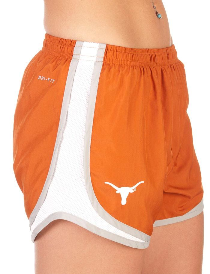 Texas (UT) Longhorns Women's Burnt Orange Logo Shorts http://www.rallyhouse.com/nike-texas-longhorns-womens-orange-tempo-shorts-12511213?utm_source=pinterest&utm_medium=social&utm_campaign=Pinterest-TexasLonghorns $34.00