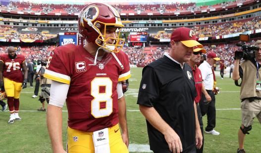 Kirk Cousins' eyes had it, leading to big plays and an interception