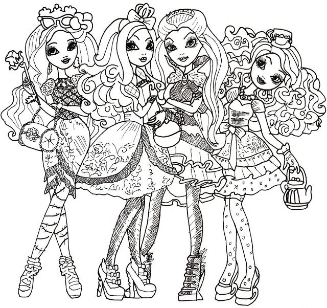 free printable ever after high coloring pages ever after high coloring sheet