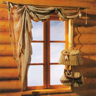 Rustic window treatment