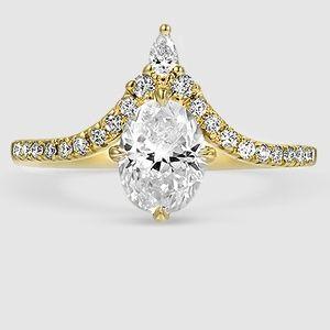 Nouveau Diamond Engagement Ring – 18K White Gold (Setting Price)