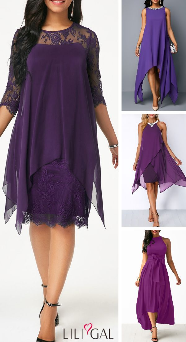 Amazing Casual Purple Dress