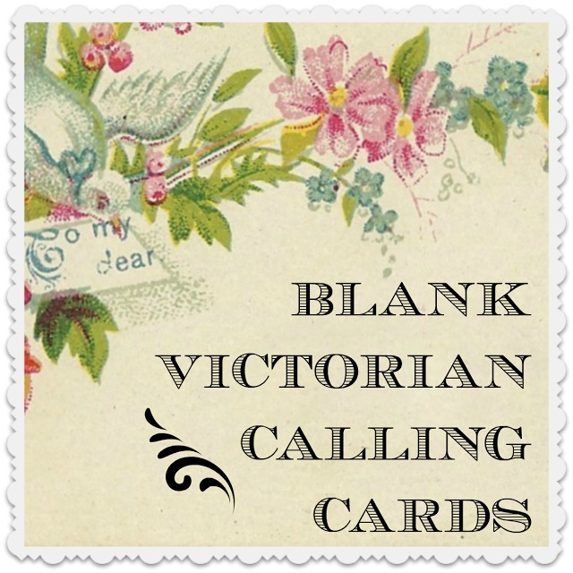Make Your Own Victorian Calling Card / free download and printable ...