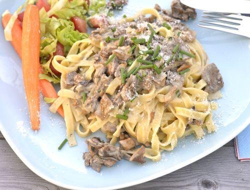 Renskav med pasta