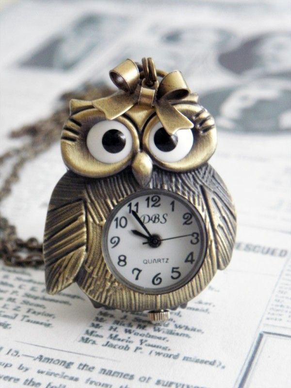 "Uilen Ketting ""Mrs. Featherly Owl"" met klokje"