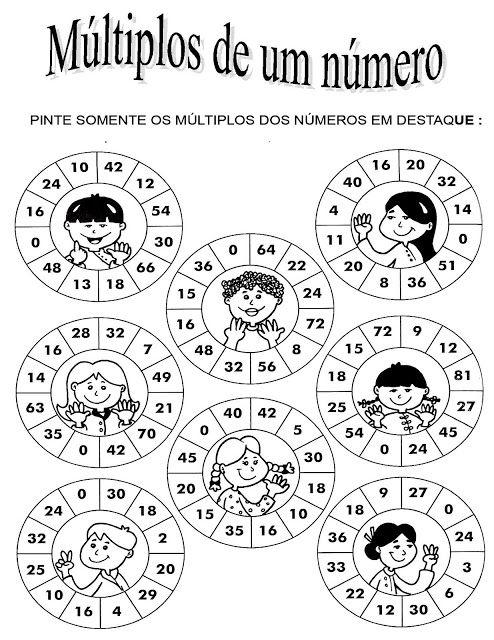 Rosearts- Atividades para imprimir: matemática do 2º ao 5º ano para imprimir
