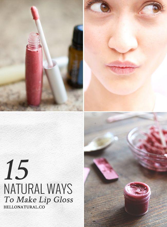 Pucker Up! 15 Natural Ways To Make Lip Gloss | Natural ...
