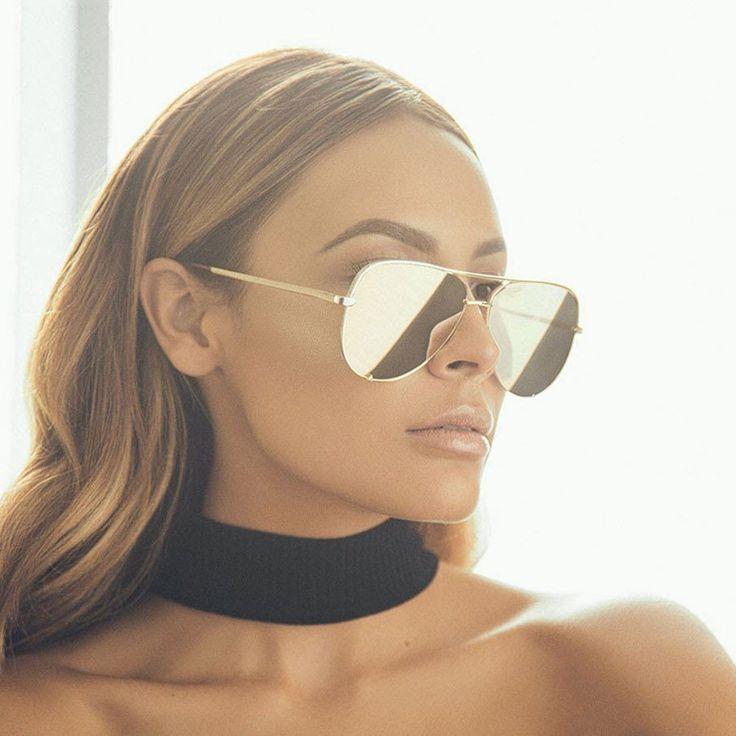 High Key Sunglasses - Gold/Gold Mirror