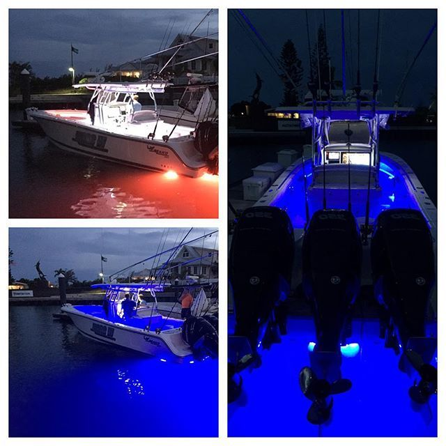 17 best images about led underwater boat lights on for Night fishing light setup