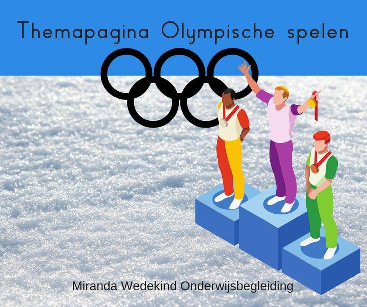 Themapagina Olympische spelen, 21e eeuws leren. De Olympische winterspelen worden gehouden van 9 t/m 25 februari 2018 in Pyeongchang, Zuid-Korea.