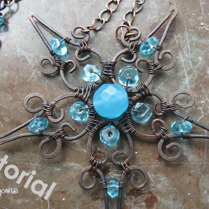 Star Filigree Pendant and clasp | JewelryLessons.com