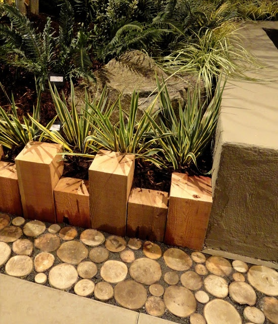 Wood Border/I Also Did This Edging With End Cuts (at All Different Levels
