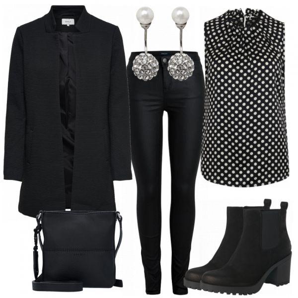 Abend Outfits: Points bei FrauenOutfits.de ____ #freizeitoutfit #freizeit #damen #alltag #mode #fashion #frauenmode #damenmode #stiefeletten #casual #…