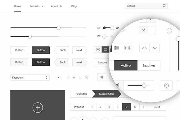 Minimal White UI kit by Medialoot on @creativemarket