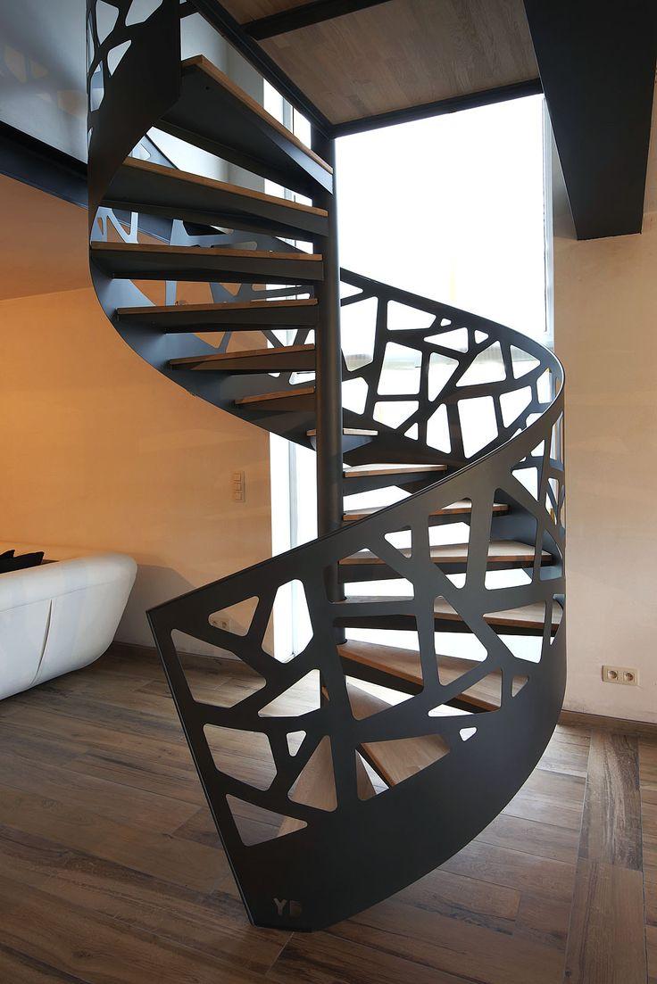 Les 25 meilleures id es de la cat gorie escalier m tallique ext rieur sur pin - Meuble en forme d escalier ...