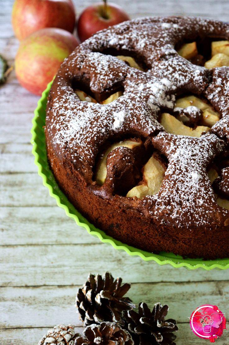 Versunkener Apfel-Schoko-Kuchen