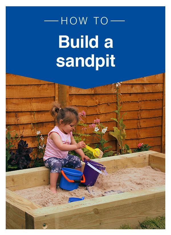 A sandpit is a great way to get children to play outside on warm summer days, allowing them to dig, sift and build. Encouraging the kids to play and interact with sand can unleash a world of imagination, while keeping them amused for hours - it's also very easy to build and can be done in an afternoon. With some sleepers, sand and basic tools from Wickes, plus this helpful step-by-step guide, you can create a fun back garden space for your little ones. Now all you need is a bucket and spade!