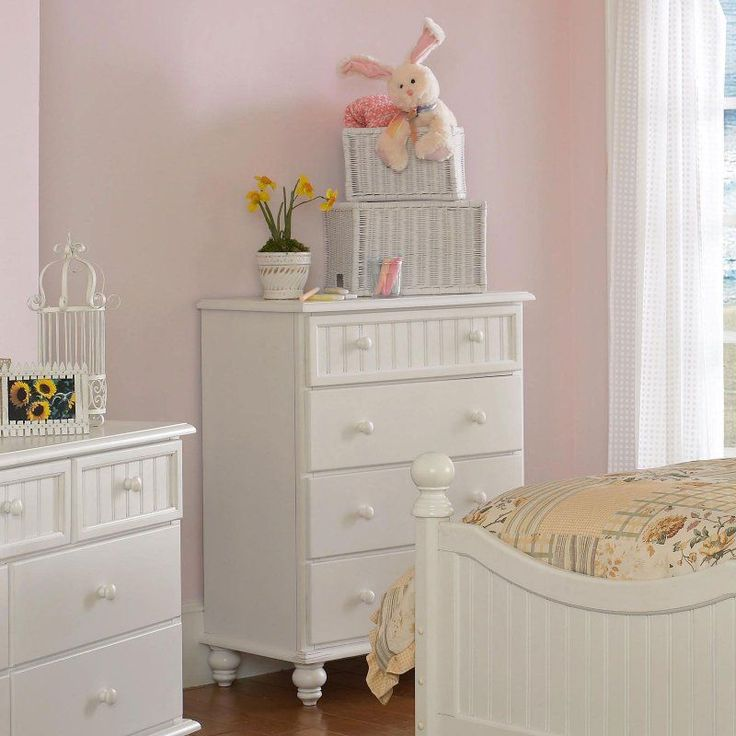Hillsdale Westfield Cottage White Chest of Drawers - 1354-784