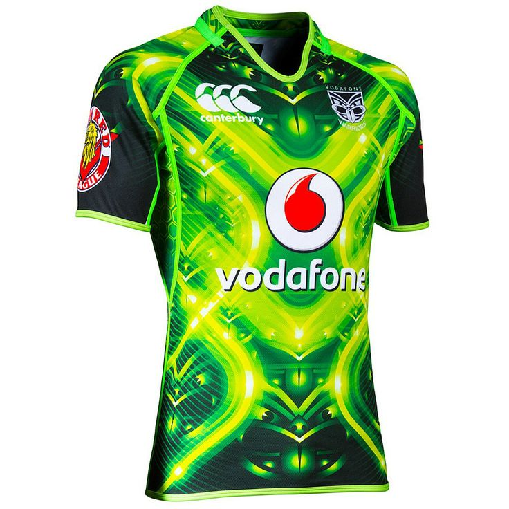 Mens Canterbury Clothing - CCC - Rebel Sport - CCC Mens NRL Warriors 2014 High Voltage Training Jersey
