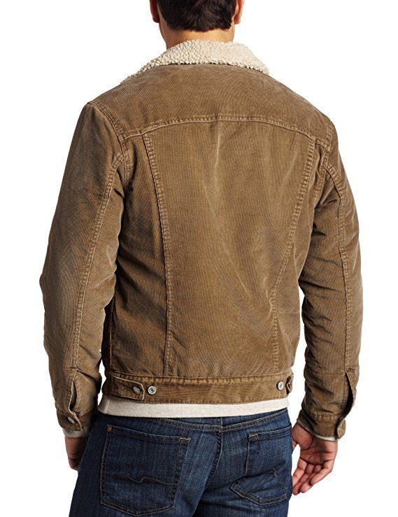 49d3b328383 Levi s Mens Corduroy Sherpa Trucker Jacket