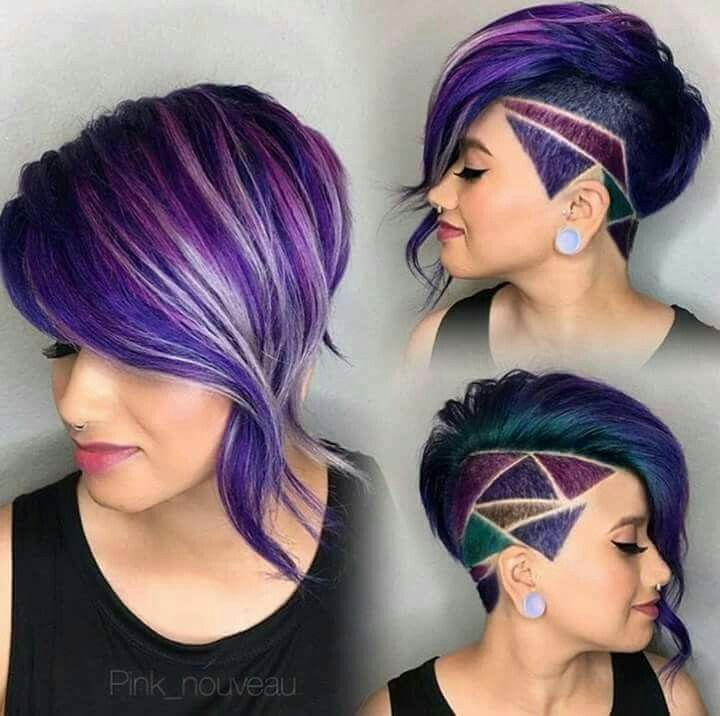 The cut with the color placement on point.