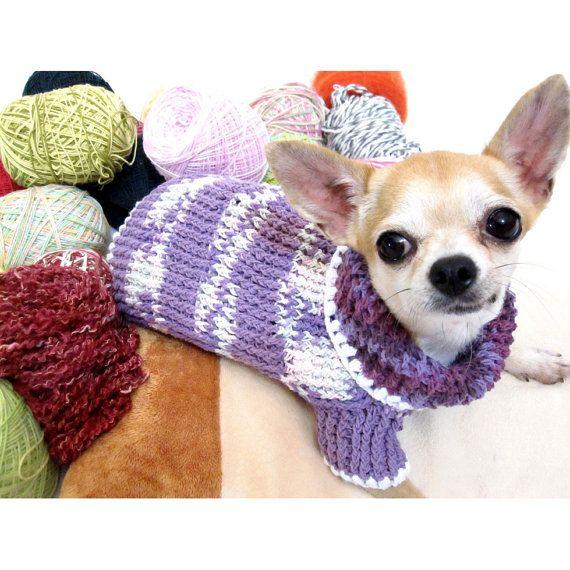 Chihuahua de taza de té caliente suéter de punto XXS por myknitt                                                                                                                                                     Más