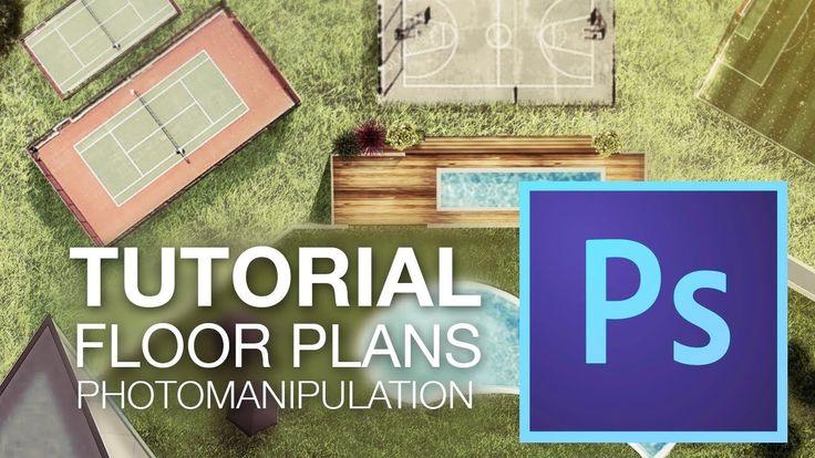 RENDERING FLOOR PLANS with Adobe Photoshop CC // Photomanipulation