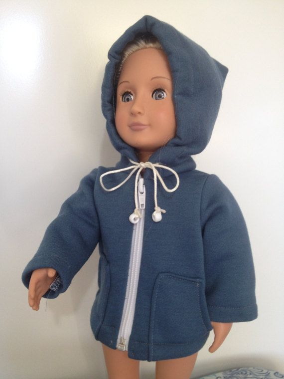 Hooded jacket in a style suitable for 18in boy and by TangledKat