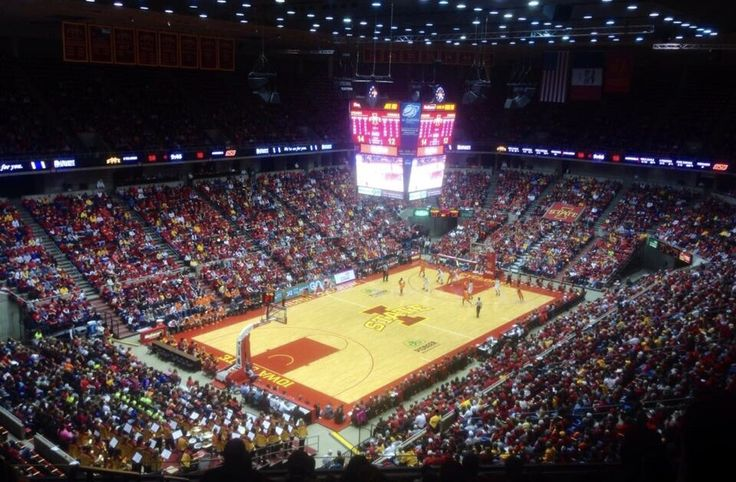 Basketball game Iowa State University