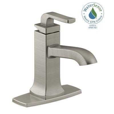 Kohler Rubicon Single Hole Handle Bathroom Faucet In Vibrant Brushed Nickel
