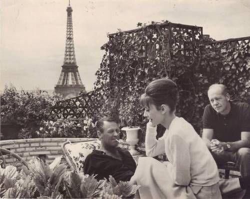 Audrey Hepburn in Paris circa the 1960s.