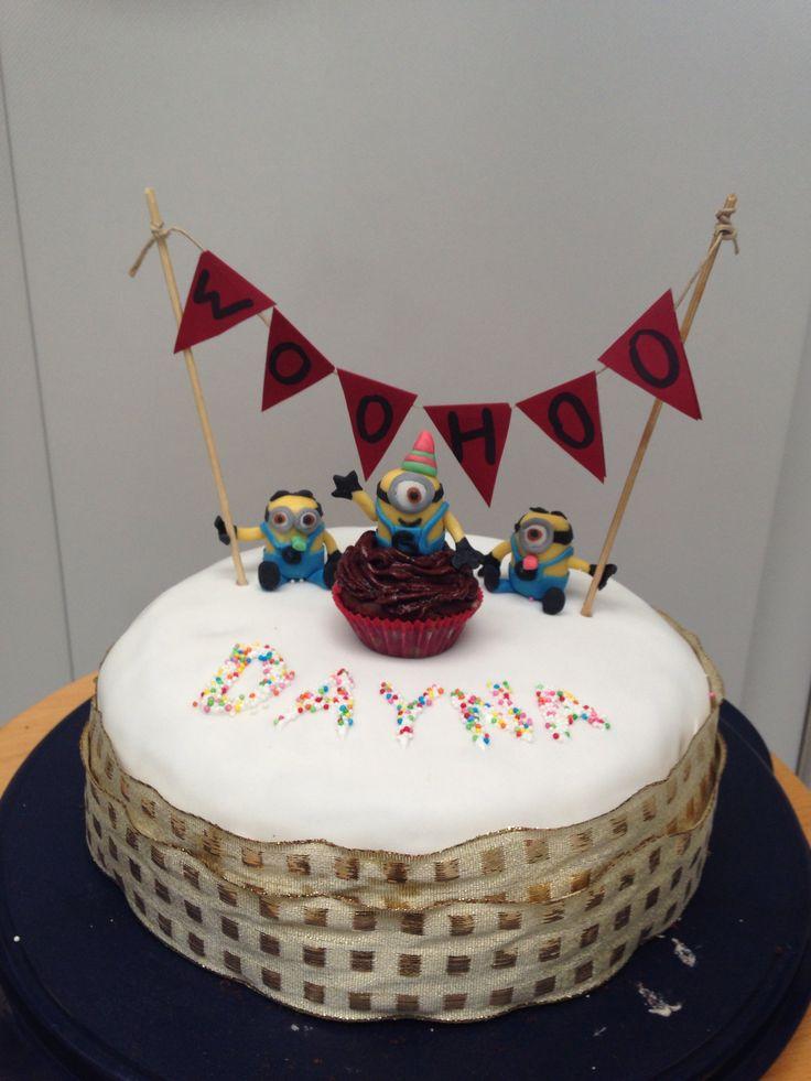 Minion oreo taart gemaakt voor Dayna's 17e verjaardag!