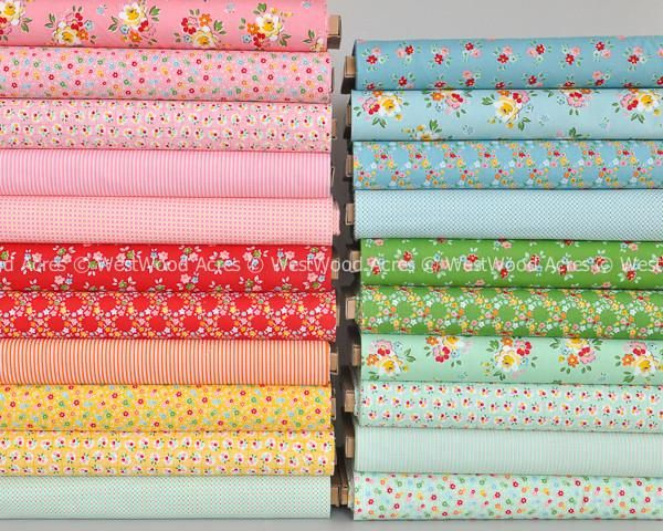 Backyard Roses fat quarter bundle image from Bloom and Bliss of riley blake…