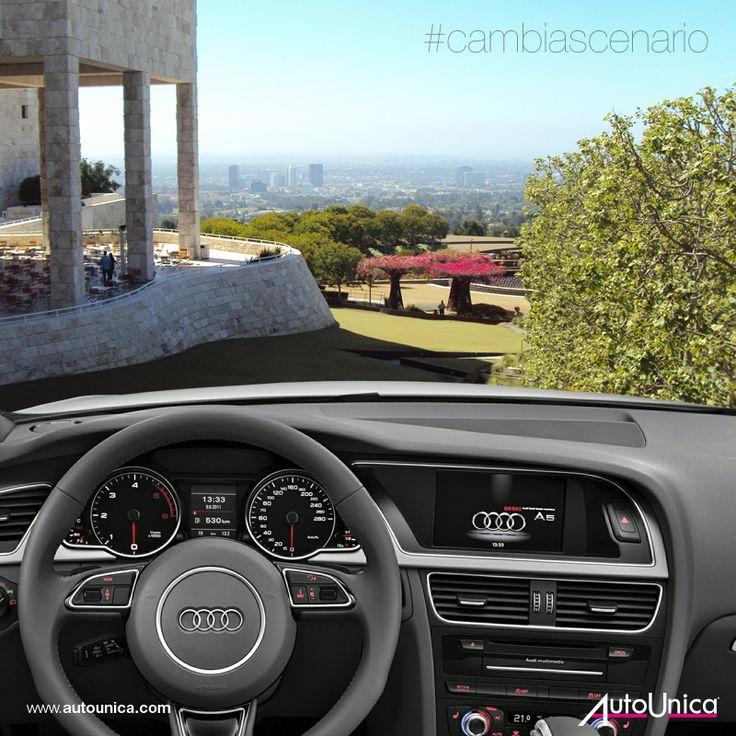 Cambia scenario: il panorama mozzafiato di Los Angeles dalla prospettiva del Getty Museum, con un'auto unica!