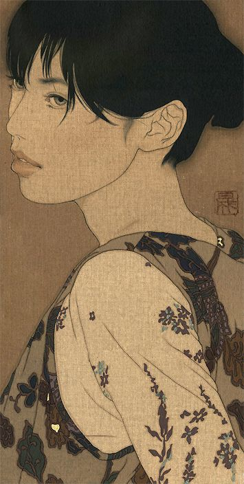 IKENAGA YASUNARI Japanese painting Linen canvas/Japanese pigment/Japanese glue/China ink/Pure gold paint