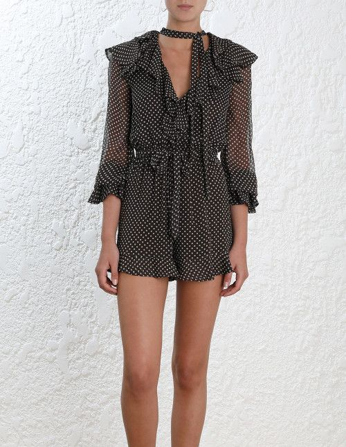 4b3e436fa8b Zimmermann Painted Heart Cascade Playsuit. Model Image. Our model is 5 11  180 cm and is wearing a size 0