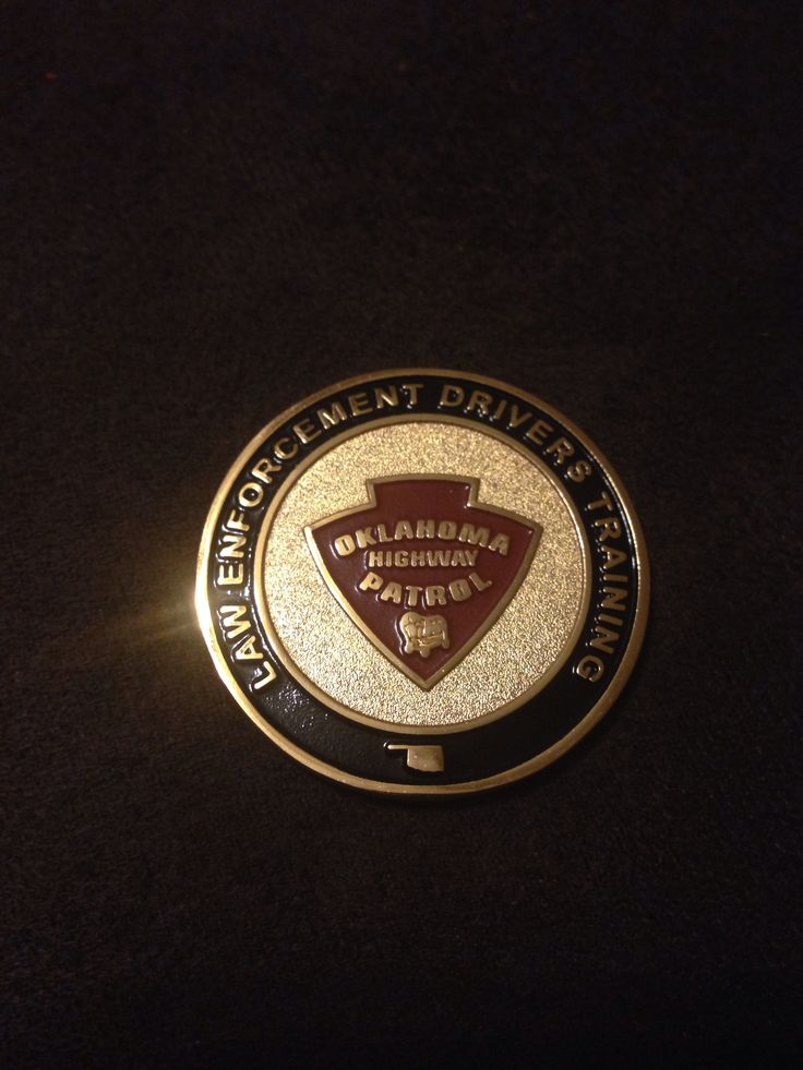Oklahoma Highway Patrol Police challenge coins, State