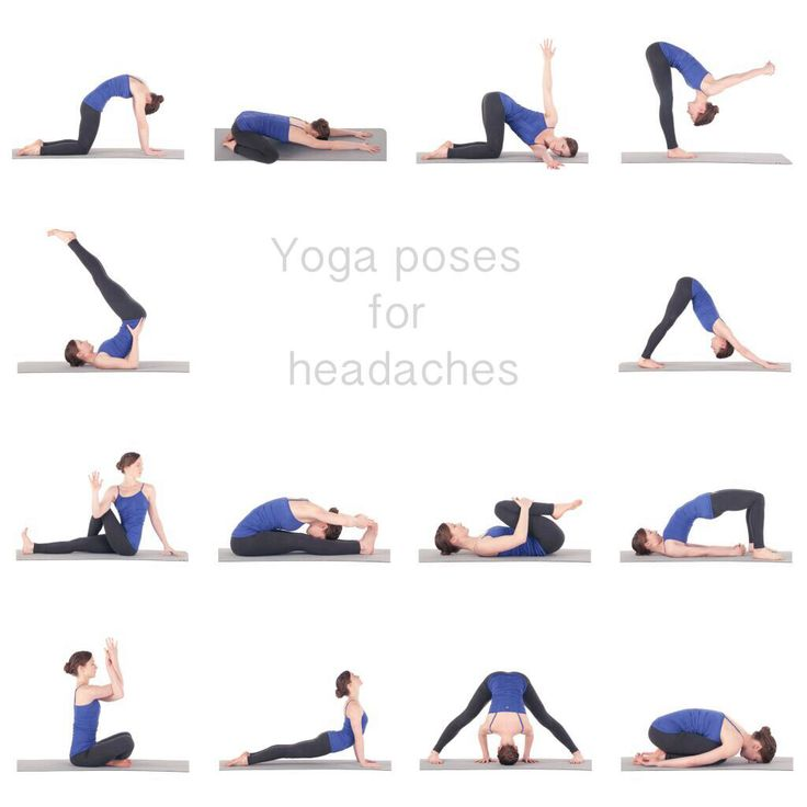Yoga poses for headaches.