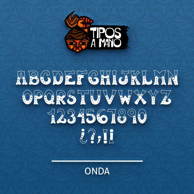 Tipografia Onda, basada en el logotipo de la revista Onda de los años 70 en Chile.
