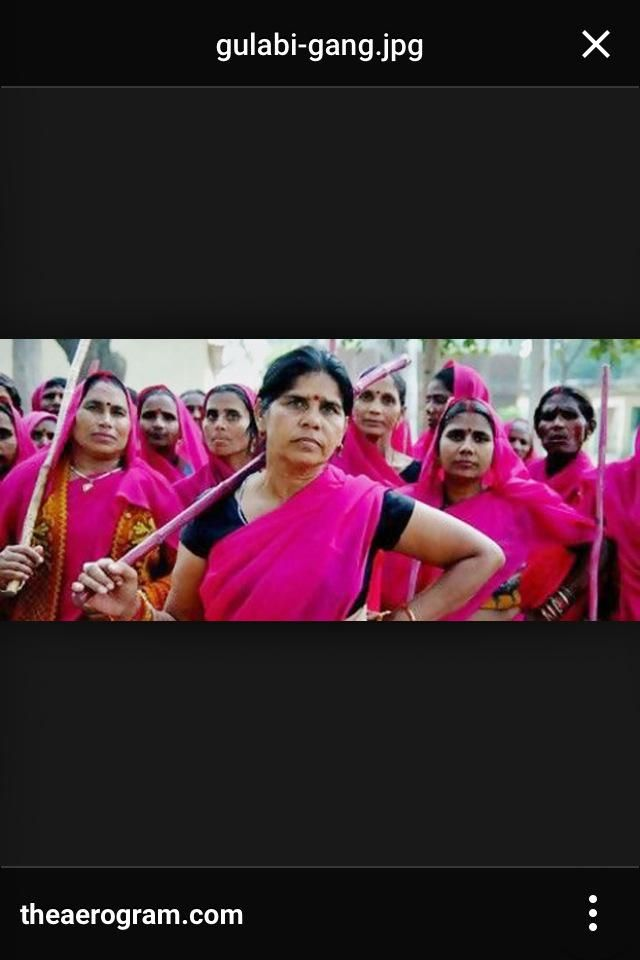 #FilmHerStory | The Pink Sari Women in India. A sisterhood of vigilantes fighting against violence towards women.