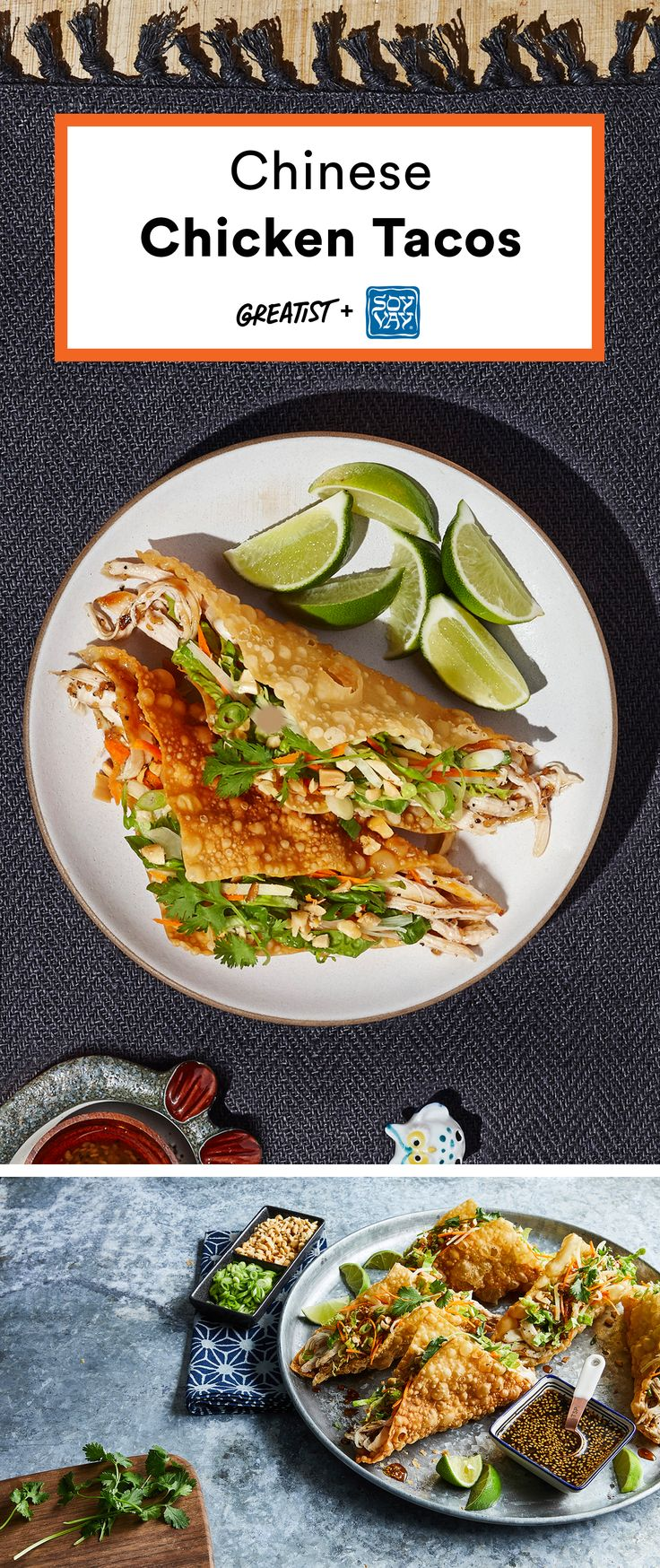 Chinese Chicken Tacos @soyvay #partner