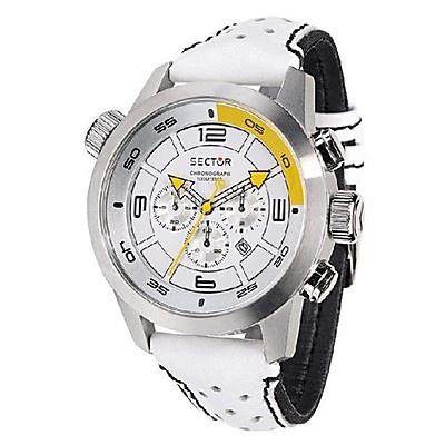 Orologio Sector - Oversize chrono - Cronografo al quarzo cassa in acciaio e cinturino in loricaStainless Steel Watches
