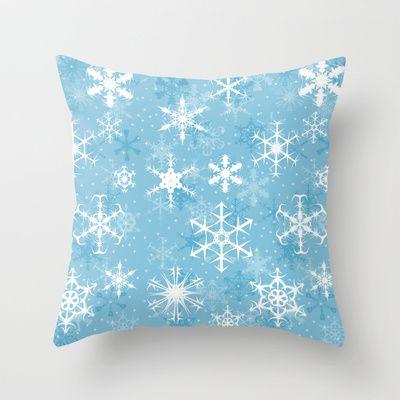 Snowflakes Throw Pillow - Available Here: http://society6.com/rapplatt/Snowflakes-vyM_Pillow#25=19318=126