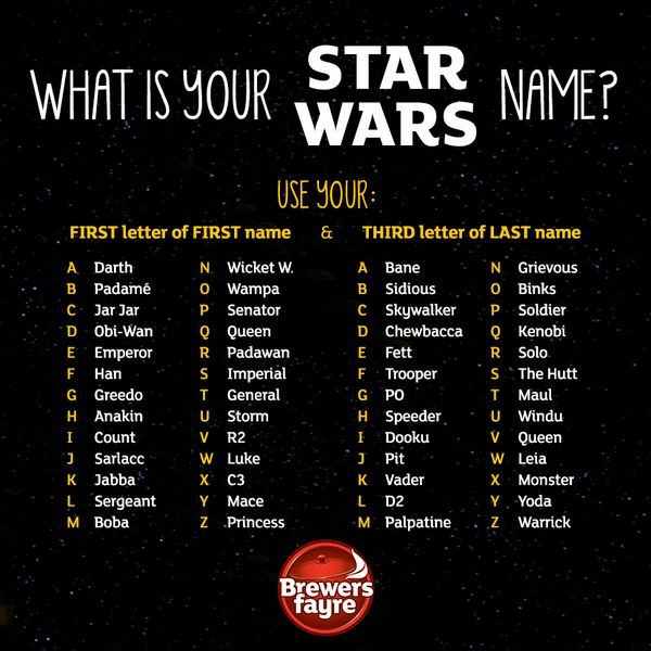 Jedi Name Generator