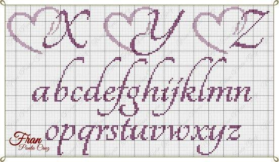 letras ponto cruz