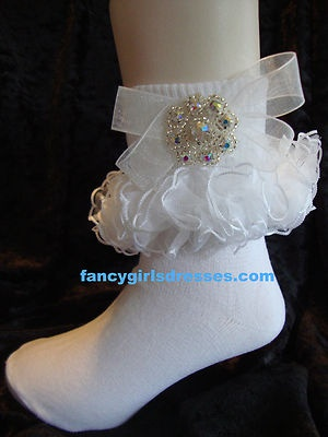 Glitz Pageant Socks Looking for Rhinestones?  Swarovski crystals adorn these!