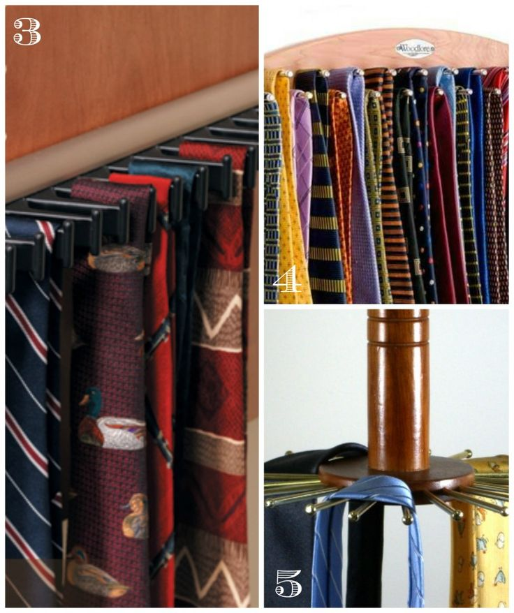 How to organize ties for him