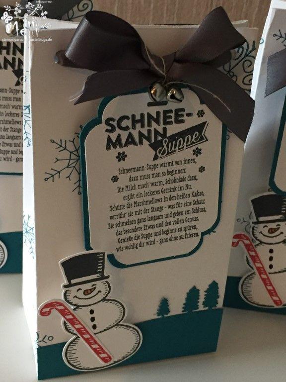 Schneemannsuppe, Stampin Up, Punchboard für Geschenktüten, Mellis Stempelparadies (4) (Kopie)